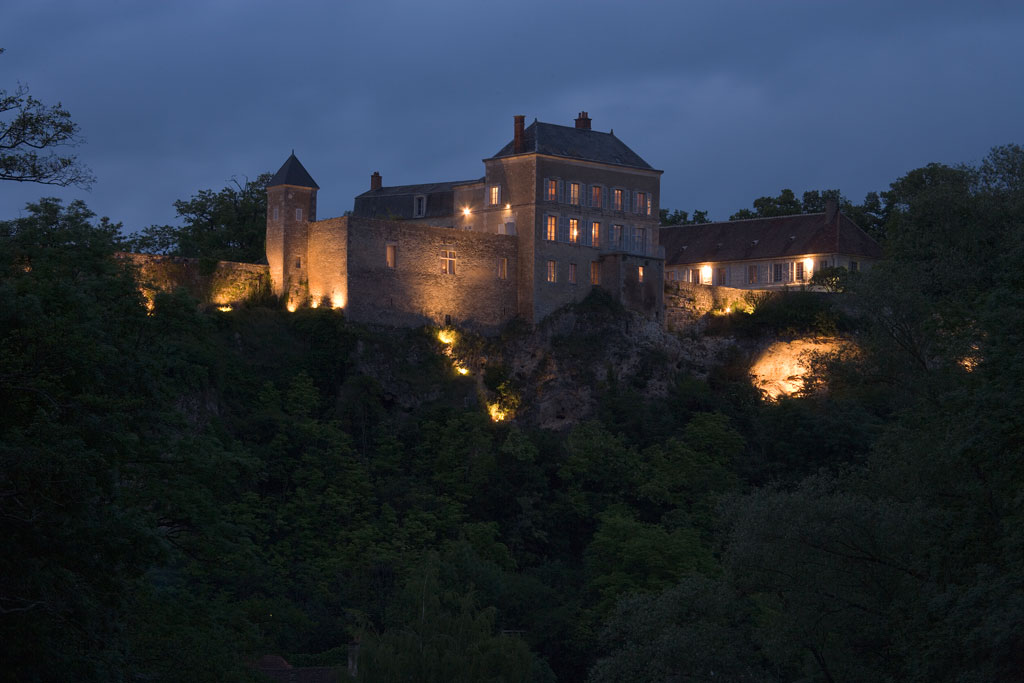 Chateau de Mailly exterior evening