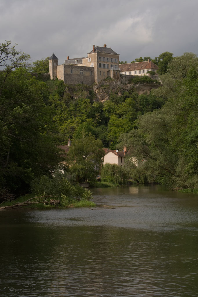 Chateau de Mailly from Yonne river by day